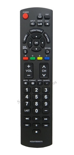controle panasonic tv lcd led n2qayb000570 tc-50px34