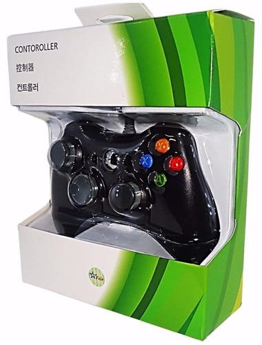 controle para xbox 360 e pc com fio joystick feir