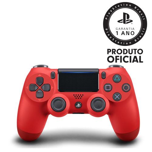 controle playstation dualshock 4 vermelho original - ps4