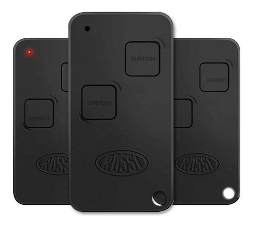controle portão rossi ntx 433 mhz com pilha 3 peças