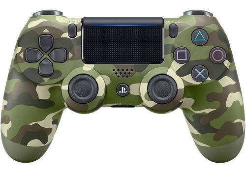 controle ps4 dualshock 4 camuflado verde original sony + nf