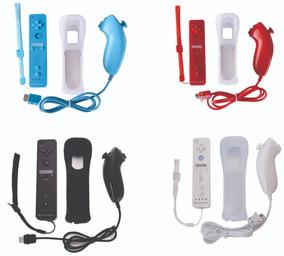 Controle Remote Plus + Nunchuck + Capa + Alça Wii E Wii U