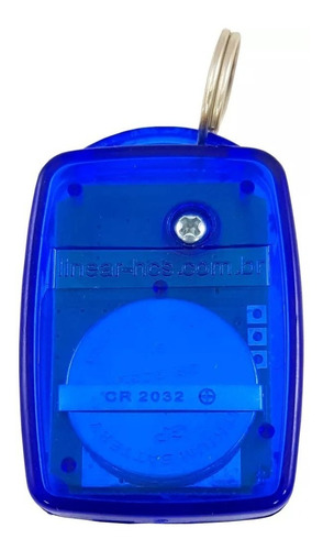 controle remoto 3 teclas linear hcs 3tb azul