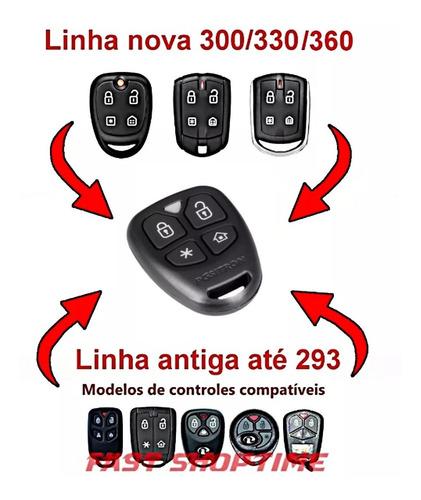 controle remoto alarme positron px46 novo px32 4 botões flex