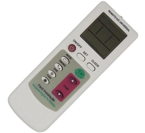controle remoto ar condicionado lg janela split universal