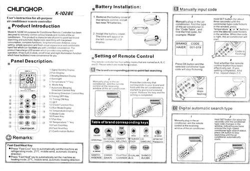 controle remoto ar condicionado split universal