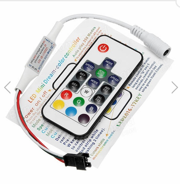 Controle Remoto Led Rbg Endereçavel Neopixel Ws2812 Ws2811