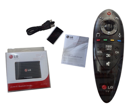 controle remoto lg magic motion an-mr500 kit completo