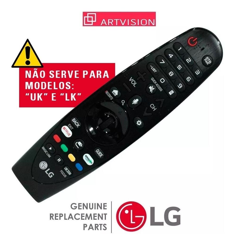 Controle Remoto Magic Smart Tv Lg An-mr650a Série Uj Sj