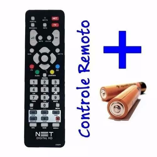 controle remoto net digital hd+tv original +2x pilhas grátis