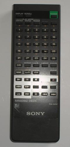 controle remoto original minidisc deck sony rm-d4m+brinde