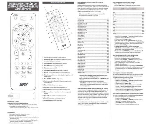 controle remoto recepetor sky p/ vários modelo