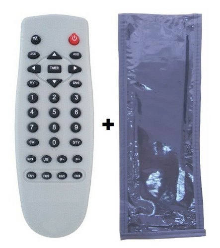controle remoto receptor bedin sat bs3000 / bs3100 + capa