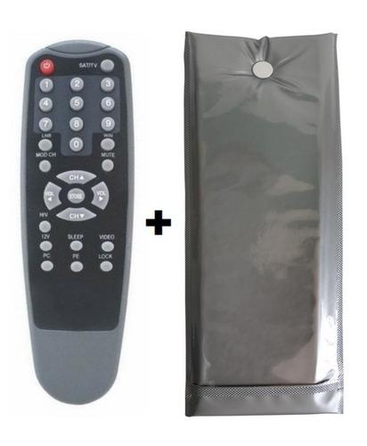 controle remoto receptor lb sat lb-3000 + capa reforçada
