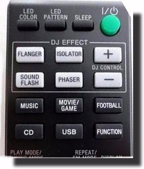 controle remoto rm-amu163 system sony shake 5 shake 7