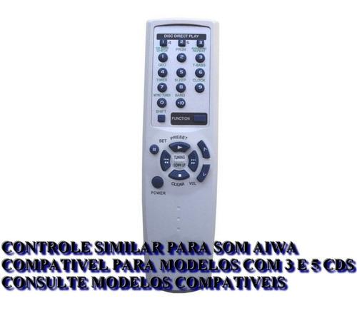 controle remoto som aiwa - alguns modelos nsx e cx 1 e 3 cds