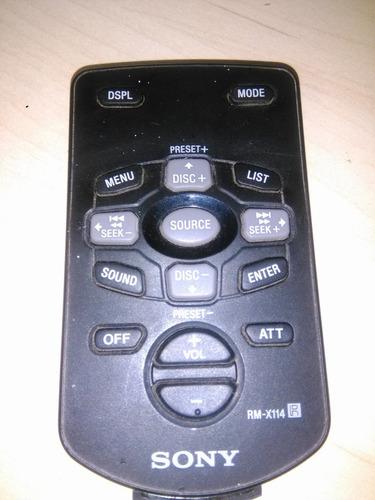 controle remoto sony rm-x114