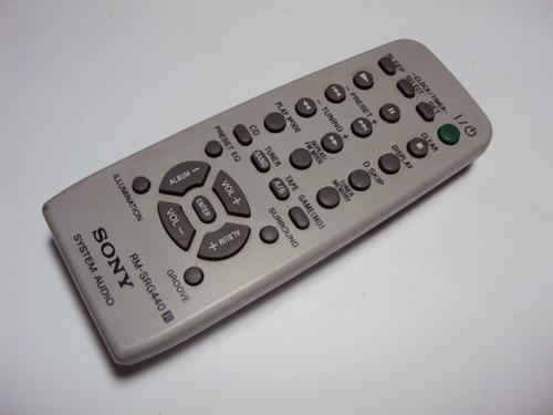 controle remoto system audio rm-srg440  -  original