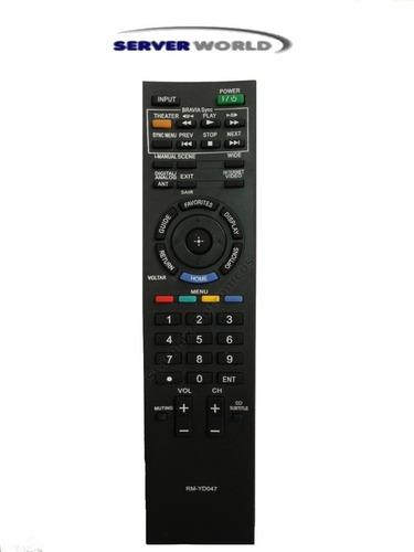 controle remoto tv lcd / led sony bravia: kdl-32ex405