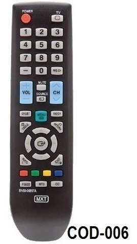 controle remoto tv lcd samsung bn59-00889a / bn59-00869a