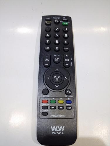 controle remoto tv lg lcd plasma led modelo akb69680416 novo