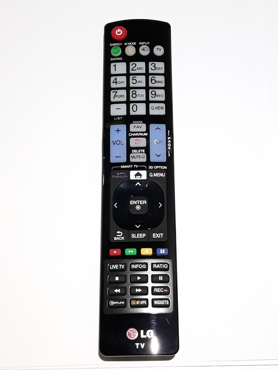 Controle Remoto Tv Lg Smart 3d My Apps Akb74115501 Novo!