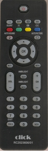 controle remoto tv philips lcd varios modelos