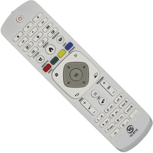 controle remoto tv philips led vc8115