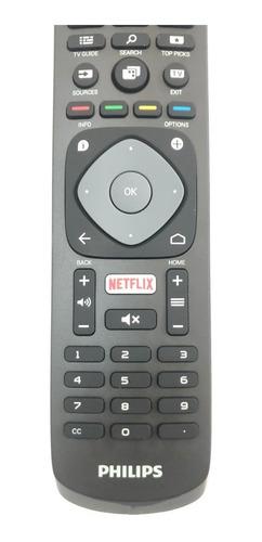 controle remoto tv philips smart 4k c/ netflix original novo