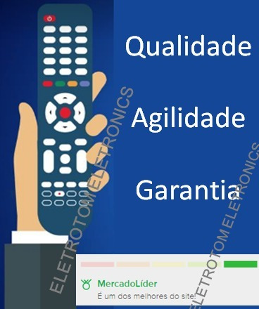 controle remoto tv philips smart botão netflix 55pug6700/78