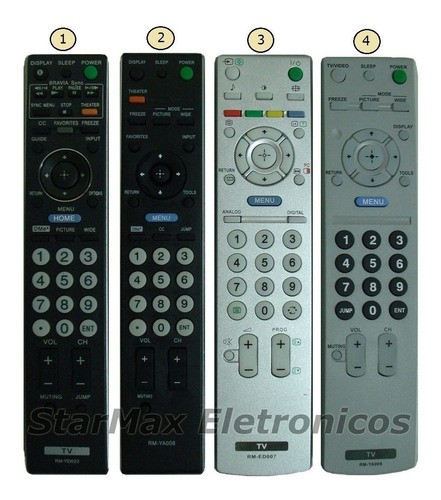 controle remoto tv sony bravia lcd plasma