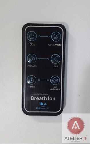 controle remoto umidificador digital breath ion relaxmedic