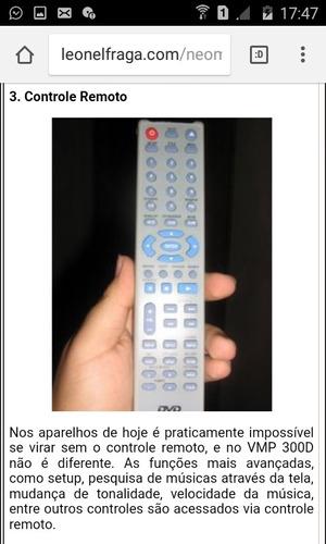 controle remoto videoke  raf 300 d  original novo