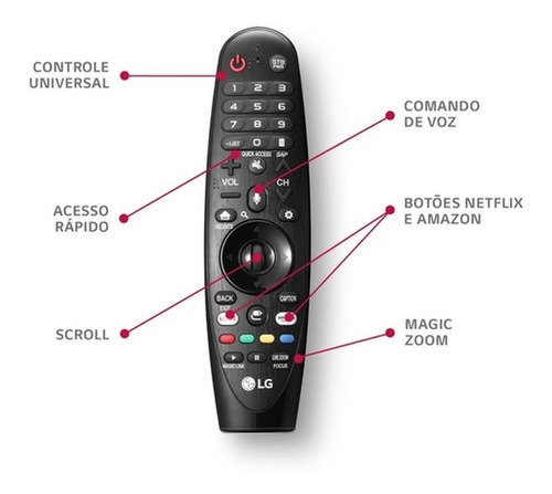 controle smart magic lg an-mr19ba thinq ai 2019 lm um sm nf