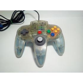 Controle Turbo Nintendo 64 - Azul Claro Transparente