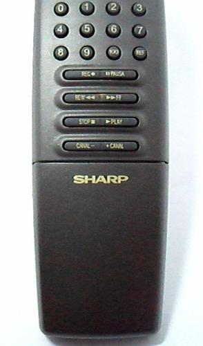 controle tv sharp c1457 serve diversos mod tubo + frete pac
