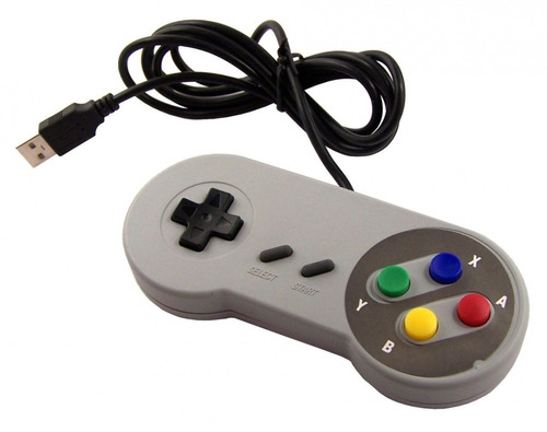 controle video game usb super pad snes joystick retro