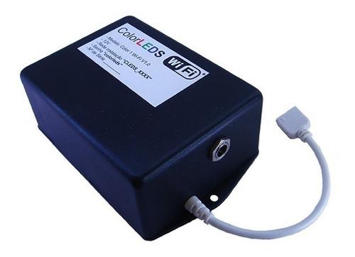 controle wi-fi c/ fita led rgb kit 5,0m sem fio android/ios