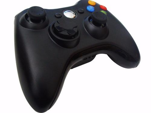controle xbox 360 sem fio wireless usb slim pc joystick