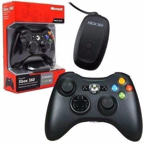 controle xbox 360 wireless + reciver usb para pc