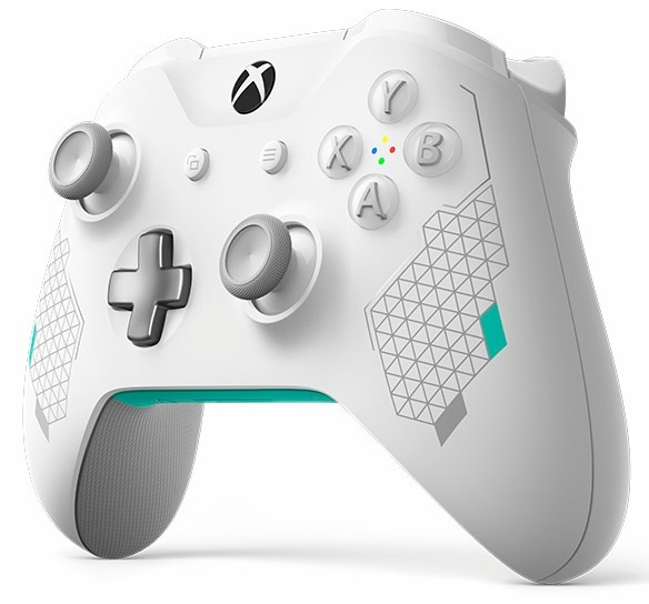 Controle Xbox One S Bluetooth Sport White Special Edition