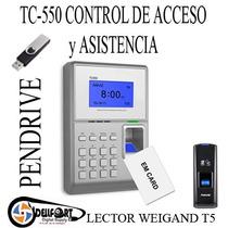 Equipo Biometrico Tc550 Acceso Y Asistencia Instalado Oferta