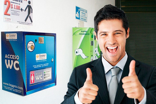 controles de acceo y tragamonedas para baños públicos