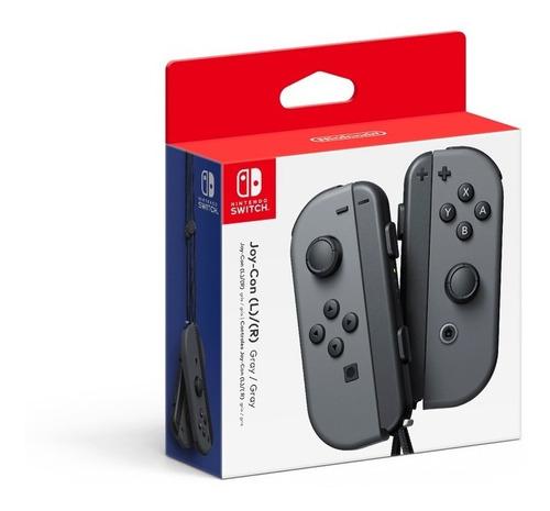 controles joy-con izquierdo & derecho gris nintendo switch