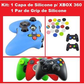 178114a92eb0f Capa Controle Xbox 360 Grip - Games no Mercado Livre Brasil