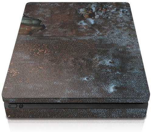 controller gear ps4 slim console skin - rusty metal