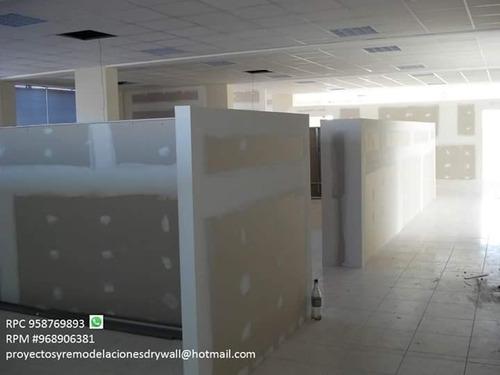 contruccion,mantenimiento proyectos y remodelaciones drywall