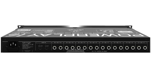 conv analógico dig 16ch p10 24 bits powerplay p16i behringer