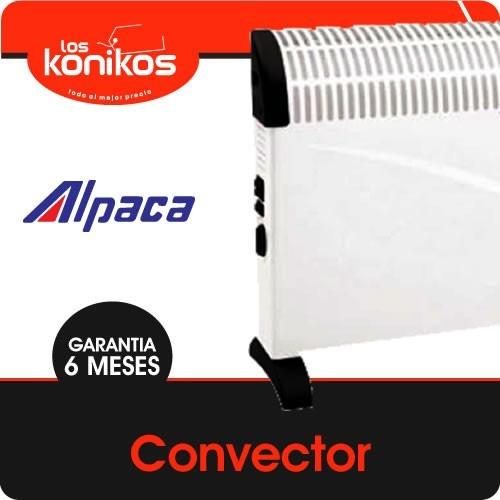 convector estufa calefactor alpaca con termostato 2000w