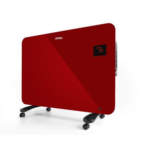 convector vitrocerámico panel rojo 1500w atma rv1516re